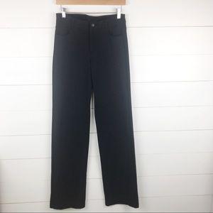 Athleta 6T Classic Ponte Pants Tall Black Pockets